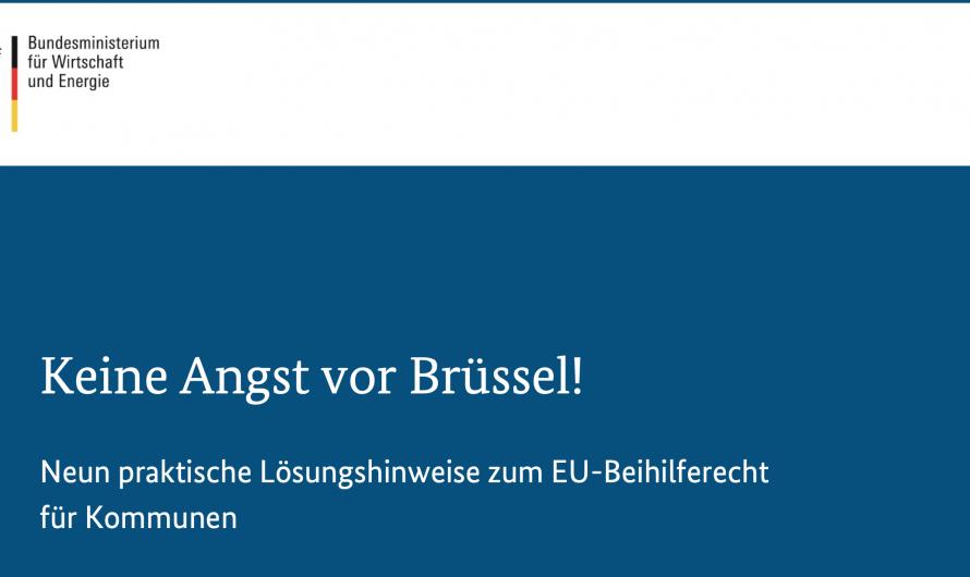 """""""Keine Angst vor Brüssel"""" – Soforthilfe durch Kommunen, mit Segen der EU. Hilfe die dort ankommt, wo sie gebraucht wird."""