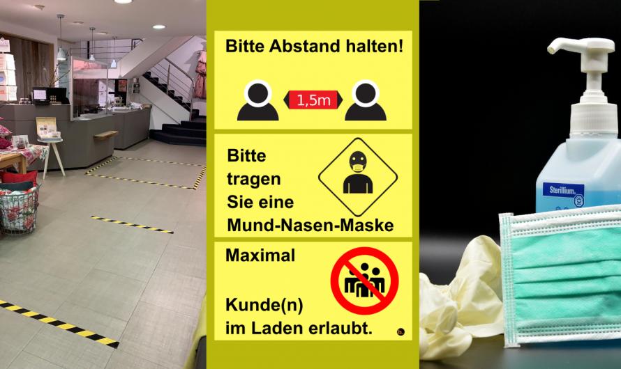 Vorbereitung auf die Laden-Öffnung: Hygiene-Tipps & Vorlagen für Einzelhändler:innen in Bayern